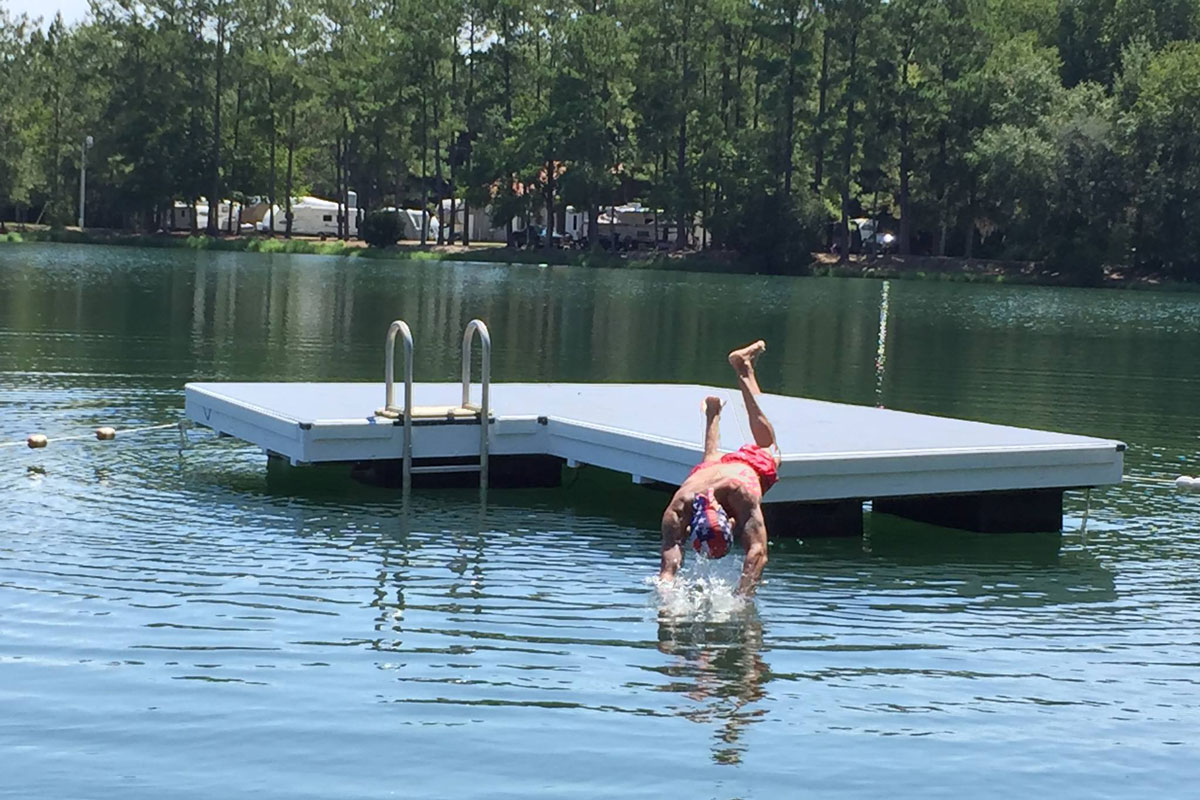 Swimming at Lake Harmony Rv Park